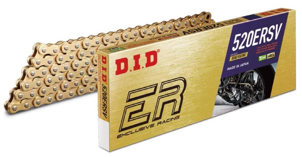 【DID】ER系列 520ERSV 金色鏈條 (附壓接型鏈條活目(ZJ)
